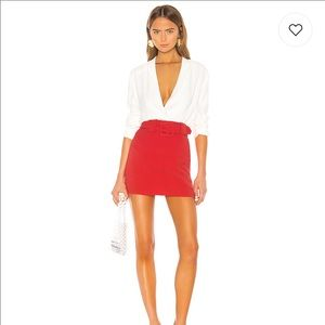 Lovers + Friends Lewis Skirt in Coral Red
